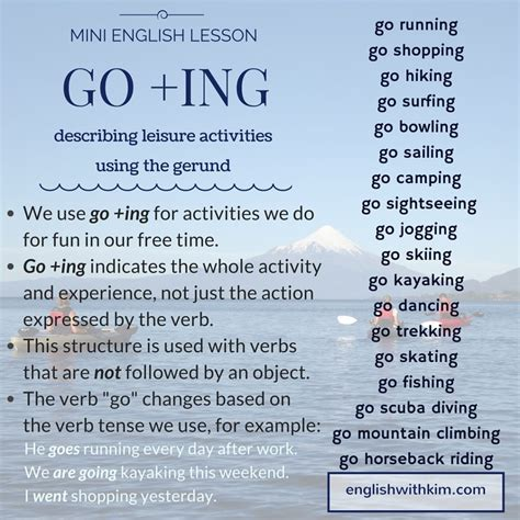 go go for lessons for children teaching to children through poses breathing exercises and stories books how to use go ing the gerund to describe activities