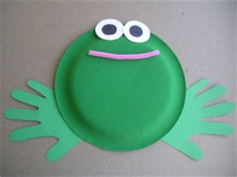 Frog Craft Paper Plate - easy paper plate frog crafts preschool education for