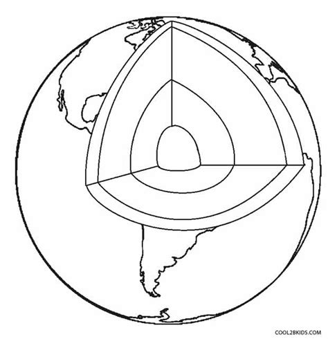 layers of the earth for kids coloring pages