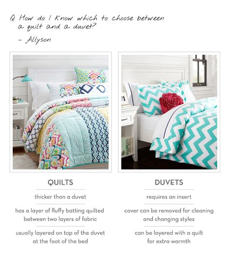 what is a duvet vs comforter ask a stylist january edition pbteen blog