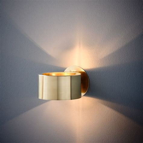 humble wall light in brushed brass finish also available