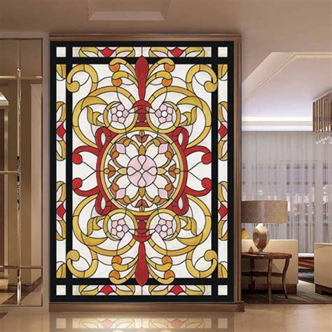 Static Window Cling Chinaprices Net Stained Glass Stickers For Doors