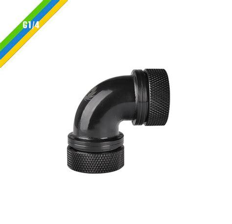 Thermaltake Pacific G14 Petg 16mm Od Compression Black pacific g14 petg 90 degree compression 16mm od