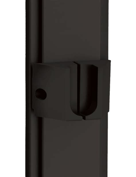 Matte Black Wardrobe by Slim Profile Intermediate Bracket For Perpendicular