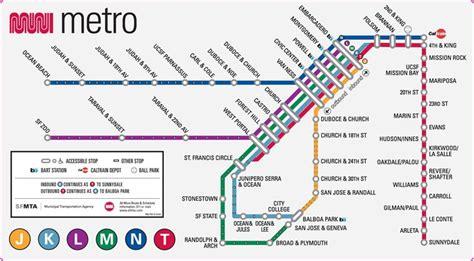 san francisco muni kt line map muni metro map sfmta