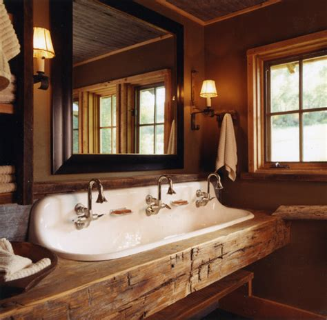rustic bathroom colors wall color