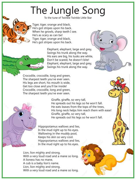 theme music to zoo time the jungle song sung to twinkle twinkle little star
