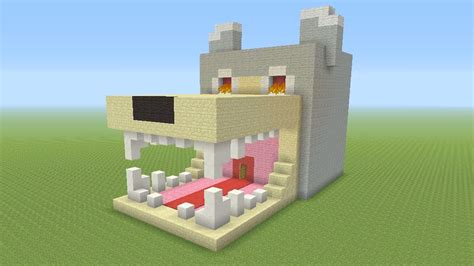 minecraft awesome dog survival house  youtube
