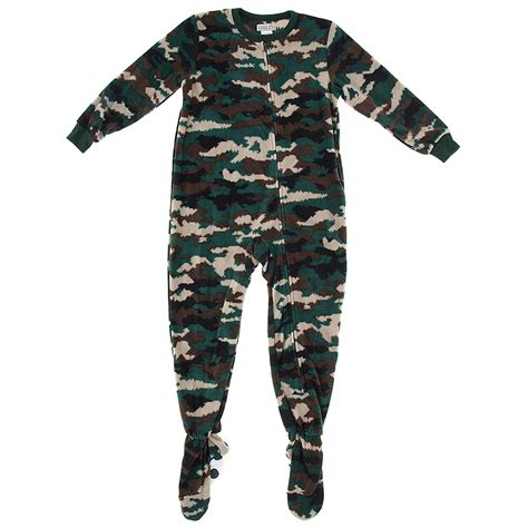 Boys Footed Sleepers by Green Camo Footed Pajamas For Boys