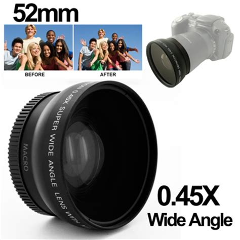 wide angle lens with macro 0.45x 52mm for nikon d40 / d60
