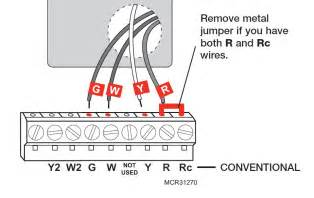 model rth6350 rth6450 series i existing wires labeled