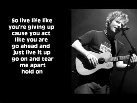 free download mp3 ed sheeran even my dad does sometimes hold on new song ed sheeran lyrics youtube