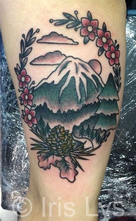 traditional mountain tattoo best 25 washington ideas on evergreen
