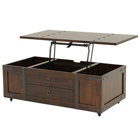 Santa Fe Lift Top Coffee Table w/Casters   El Dorado Furniture