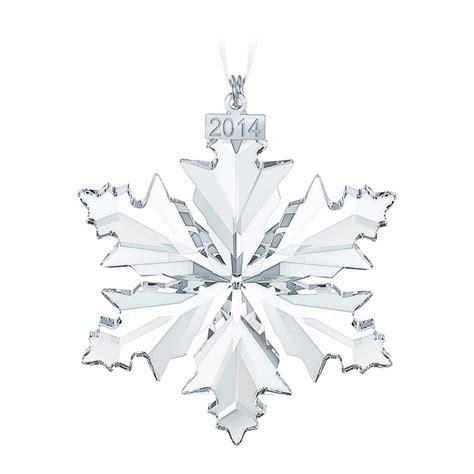 swarovski ornaments swarovski annual edition 2014 snowflake ornament