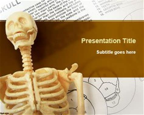free skeleton powerpoint template