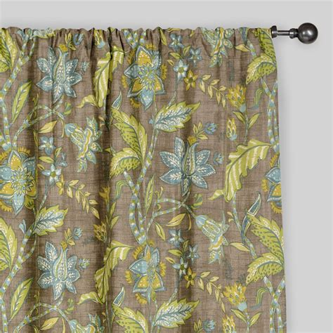worldmarket curtains floral tamara curtains set of 2 world market