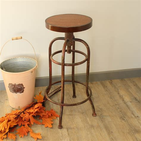 Metal Stools Uk by Metal Vintage Kitchen Breakfast Bar Cafe Club Stool Wooden