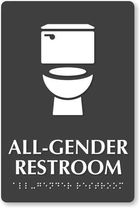 Gender Neutral Bathrooms - all gender restroom signs