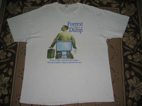 T Shirt Kosong garaj kosong forrest gump t shirt quot forrest takes a dump quot