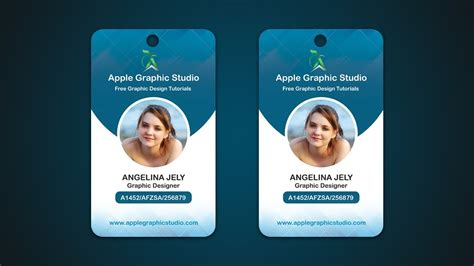 Company Identity Cards Templates by Company Id Card Design Template Company Employee Identity