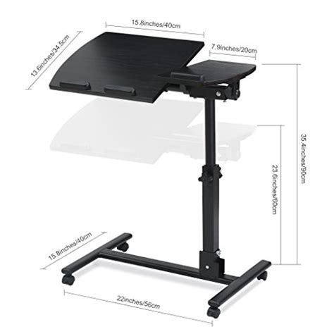 laptop desk cart langria portable laptop desk cart store