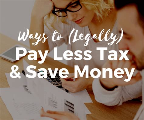 ways  legally pay  tax  save money