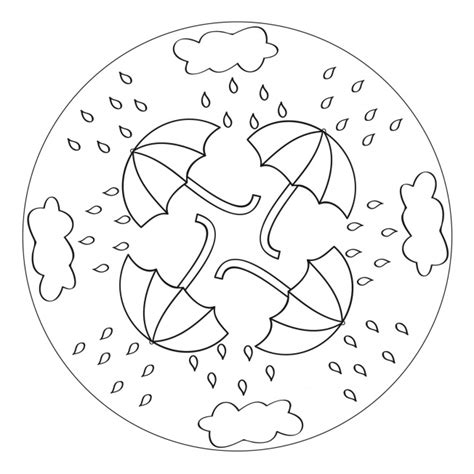 mandala coloring pages for preschoolers umbrella mandala for pre k kindergarten and