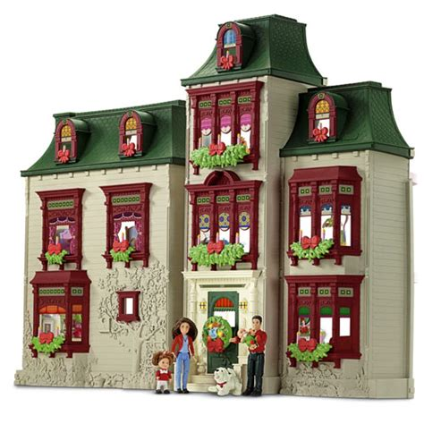loving family doll house new window accessories candle box fisher price loving family holiday dollhouse ebay