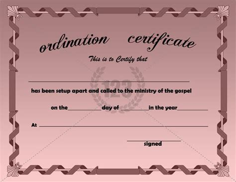 ordination certificate template search results for free ordination templates calendar 2015