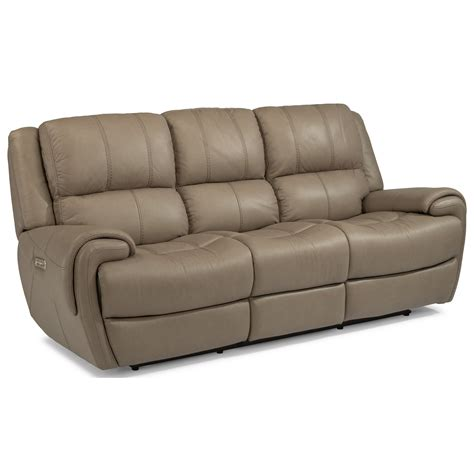 Flexsteel Latitudes Reclining Sofa Flexsteel Latitudes Nance Casual Power Reclining Sofa With