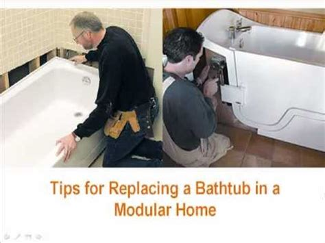 how hard is it to replace a bathtub tips for replacing a bathtub in a modular home youtube