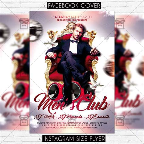 Men S Club Vol 2 Premium Flyer Template Exclsiveflyer Free And Premium Psd Templates Club Flyer Template Free 2