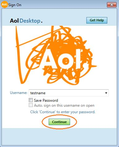 the new aol desktop: signing on aol help