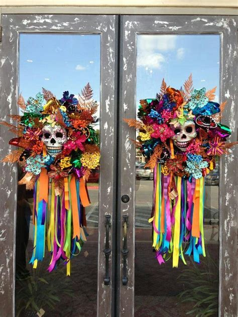 day of the dead home decor could use dollar tree door knockers to recreate these