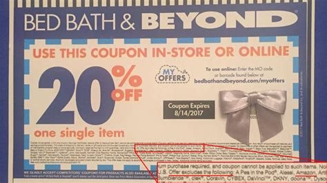 bed bath and beyond 5 00 off printable coupon retailers