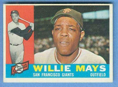 Baseball Gift Card - 1960 topps 200 willie mays giants