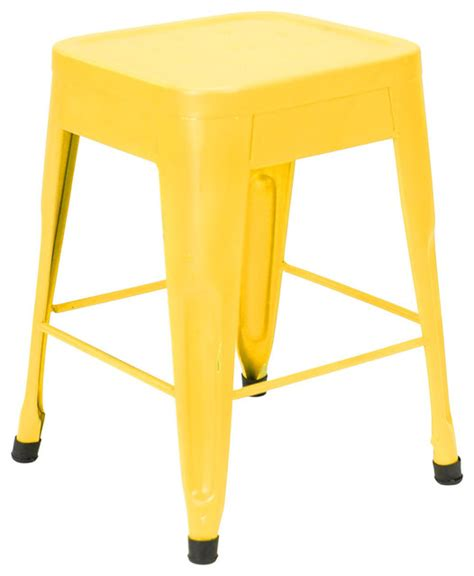 What Is Yellow Stool by Felix Cafe Style Table Stool Lightly Distressed