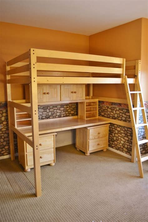 85 Best Images About Adult Loft Beds On Pinterest Loft Beds Computer Desk