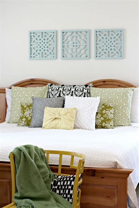 above bed decor spray painted wall art organize and decorate everything