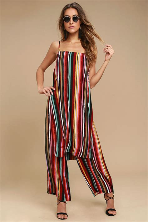 Odena 2 In 1 Jumpsuit Dodshop free ruby set multi striped two set two jumpsuit