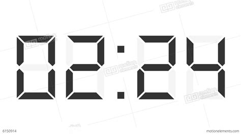 digital time lapse digital clock 12h time lapse stock animation 6150914