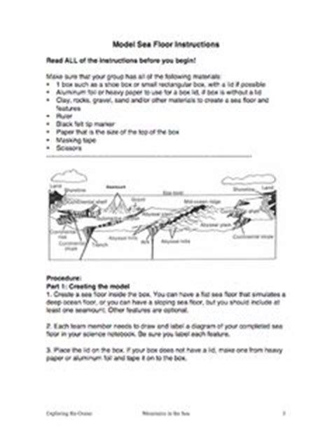 Label The Floor Worksheet by Oceans On Coral Reefs Activities And