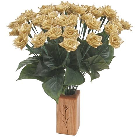 50th Anniversary Just Gold Ribbon Roses   50th Anniversary