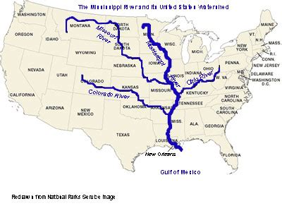 us map showing states and mississippi river 6 major rivers of world list of major rivers quickgs