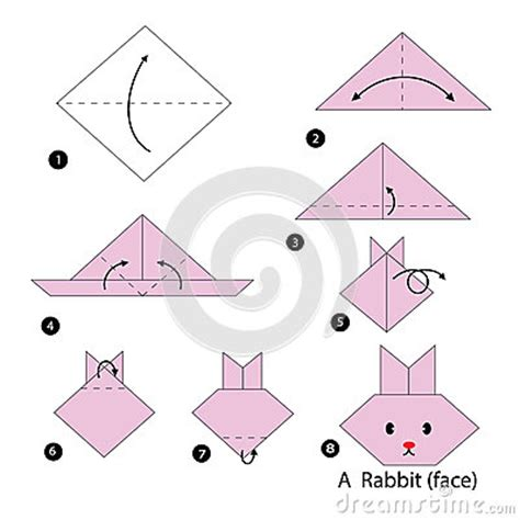 How To Make A Paper Rabbit - step by step how to make origami a rabbit