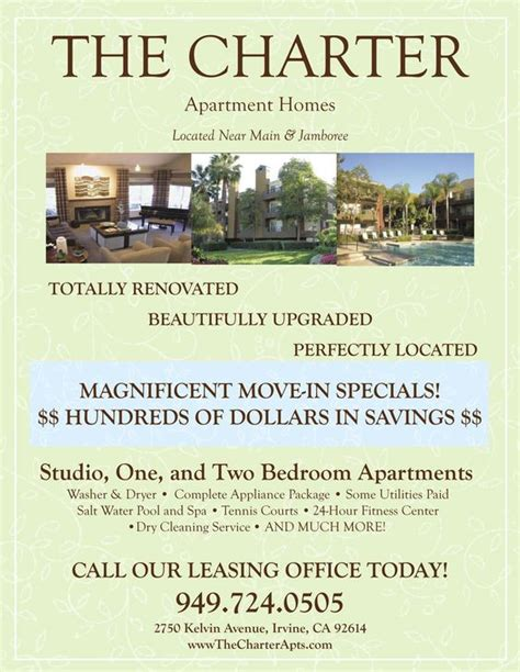 Apartment Marketing Tips Move In Specials Apartment Flyer Apartment Marketing