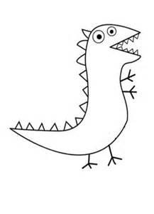 george amp dinosauri da colorare e stampare peppa pig