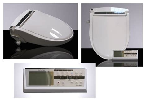 coco bidet elongated  toilet seat  remote control
