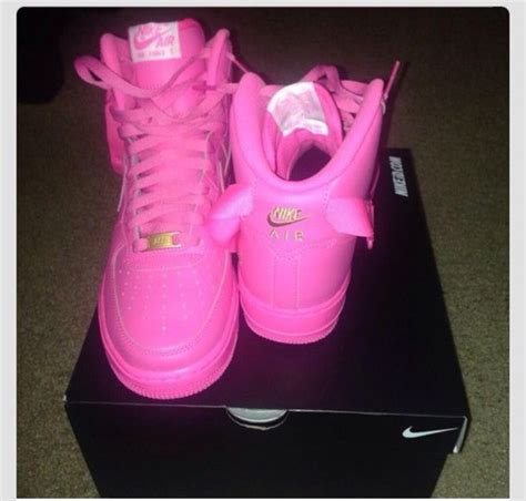 Nike One High Pink shoes nike air 1 nike air 1 pink sneakers